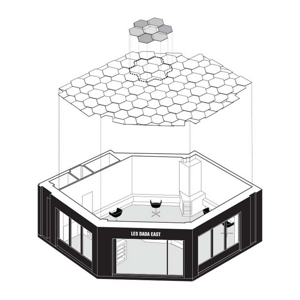 famennyezet - 3d méhsejt