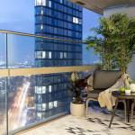 kis legénylakás - terasz erkély és panoráma