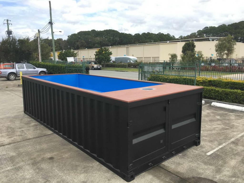 nagy konténer medence - hordozható