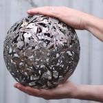 régi kulcs és pénz, érme alkotások - gömb