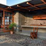 Pihenés, szabadtéri konyha, terasz és kert a város tetején