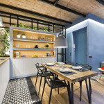 tengerparti nyaraló - városi kis lakás - étkező és konyha