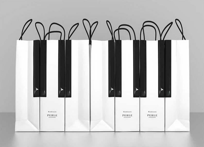 A' design zongora sütemény csomagolás