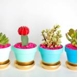aranyozott virágcserép - növény dekoráció