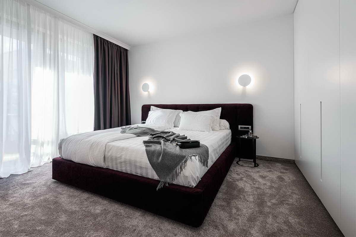 díjnyertes lakás - fehér hálószoba