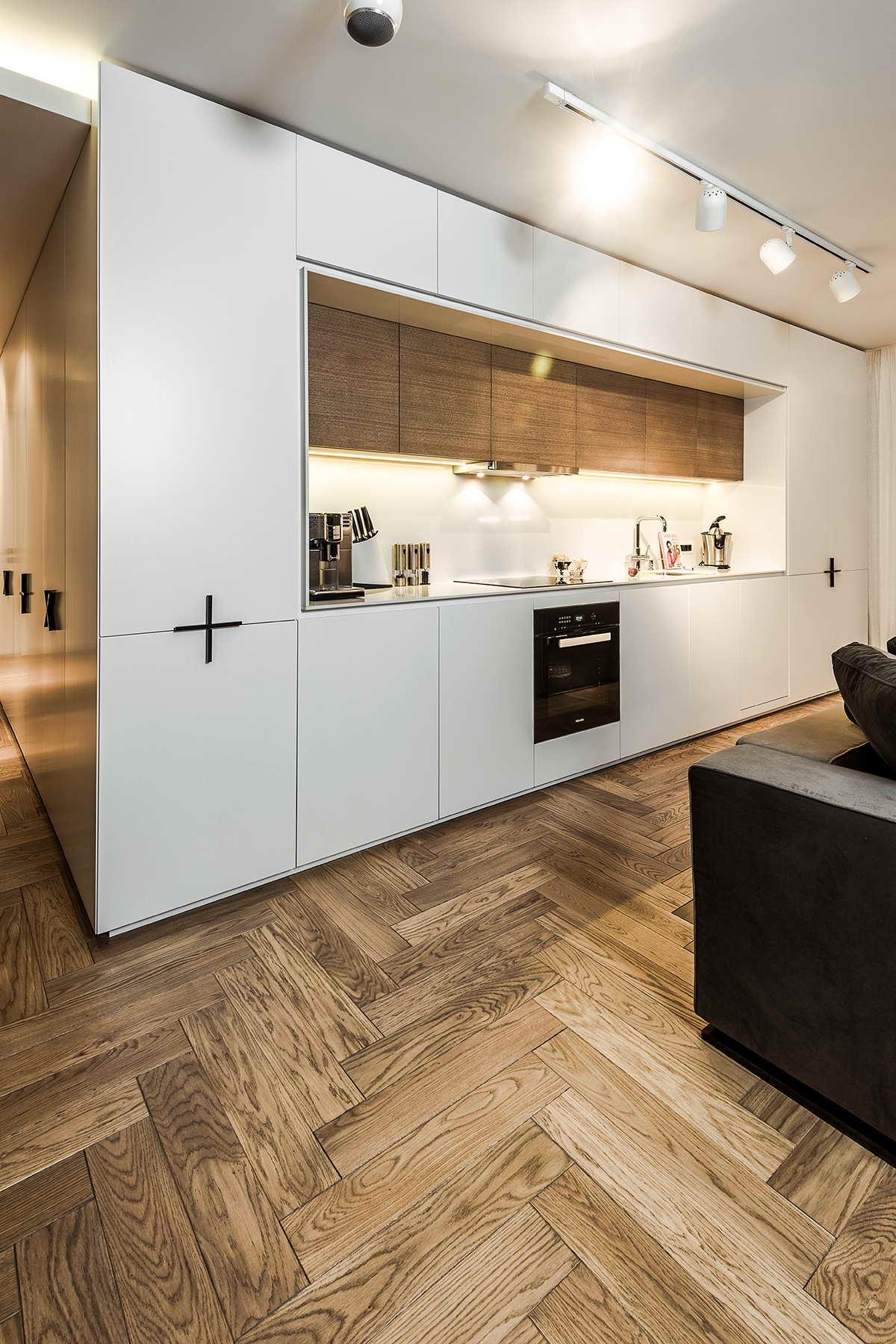 díjnyertes lakás - fehér konyhaszekrény