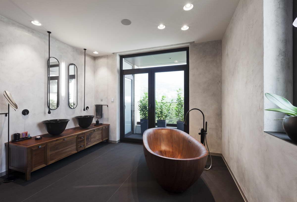 díjnyertes lakás kortárás és modern design - fürdőszoba