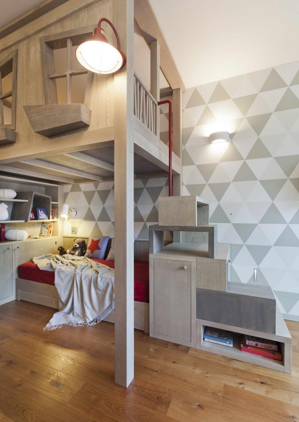díjnyertes lakás kortárás és modern design - gyerekszoba