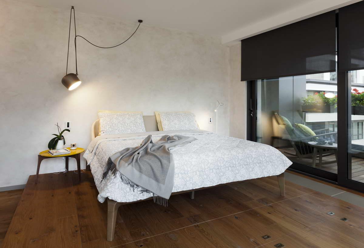 díjnyertes lakás kortárás és modern design - hálószoba