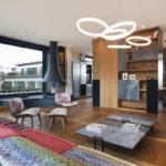 díjnyertes lakás kortárás és modern design - nappali
