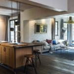 díjnyertes lakás modern klasszikus konyha nappali