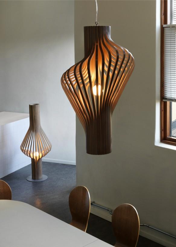 fa design függő csillár lámpa