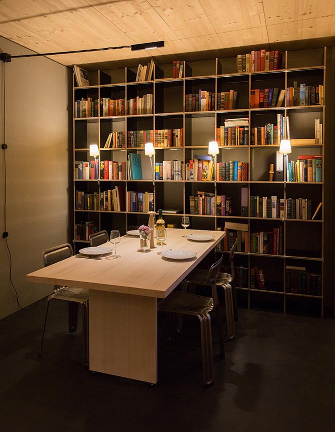 2 design hálószoba, dizájn kocka - étkező és könyvszekrény