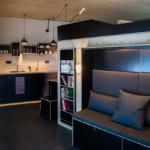 2 design hálószoba, dizájn kocka - kanapé és konyha