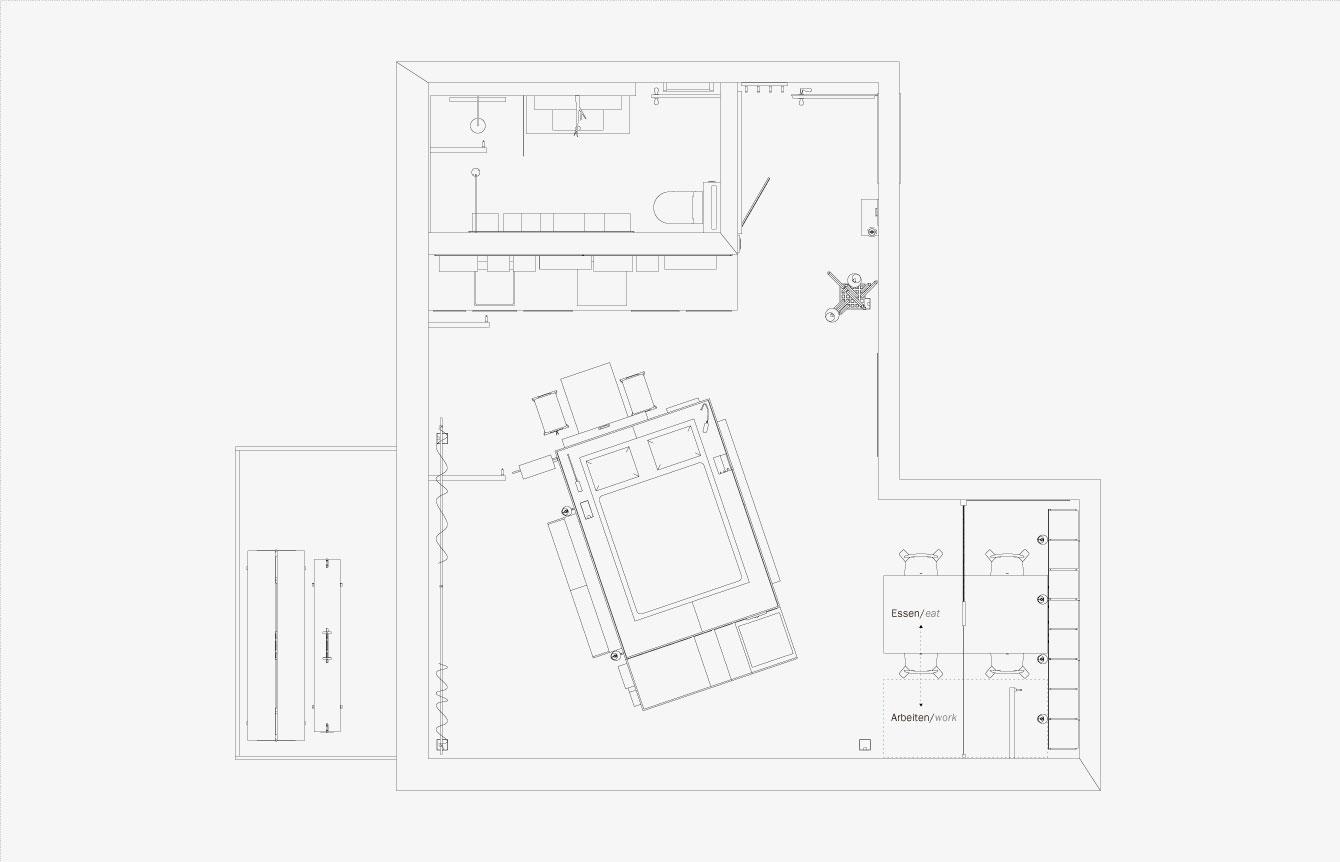 2 design hálószoba, dizájn kocka - alaprajz