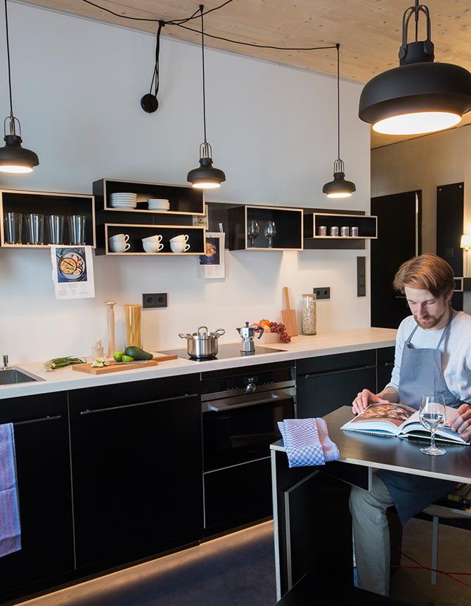 2 design hálószoba, dizájn kocka - konyha