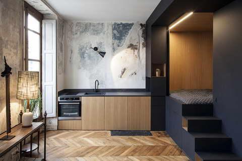 design hálószoba, dizájn kocka - konyha és nappali