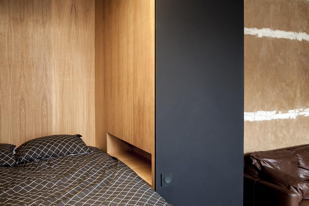 design hálószoba, dizájn kocka - hálófülke