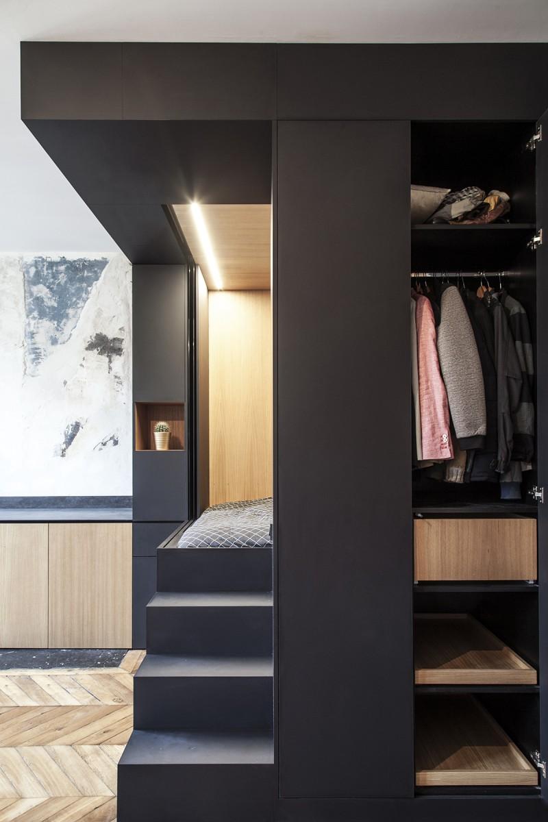 design hálószoba, dizájn kocka - gardrób szekrény