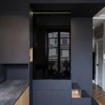 design hálószoba, dizájn kocka - elválasztó és konyha