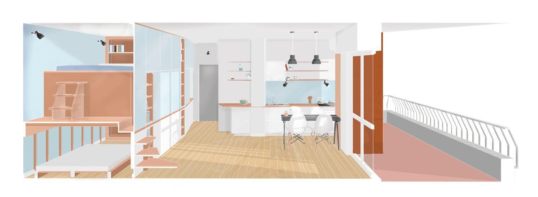 dupla hálószoba kis lakás - terv