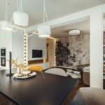 elegáns modern étkező nappali