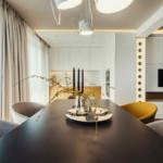 elegáns modern étkező konyha