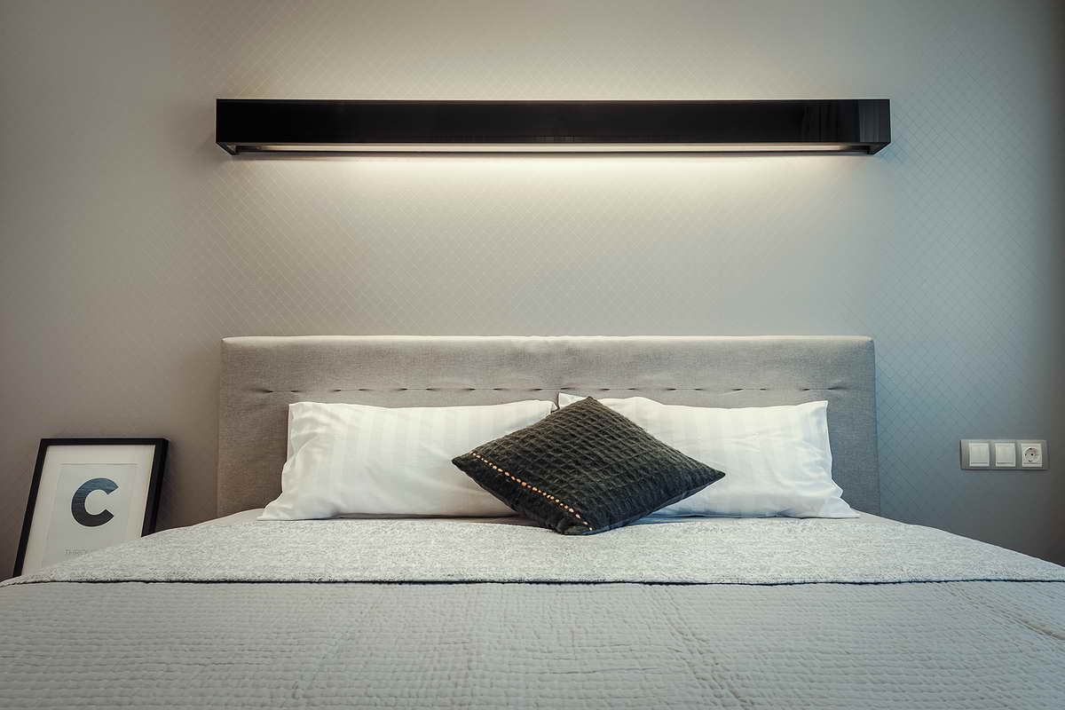 elegáns modern lakás hálószoba