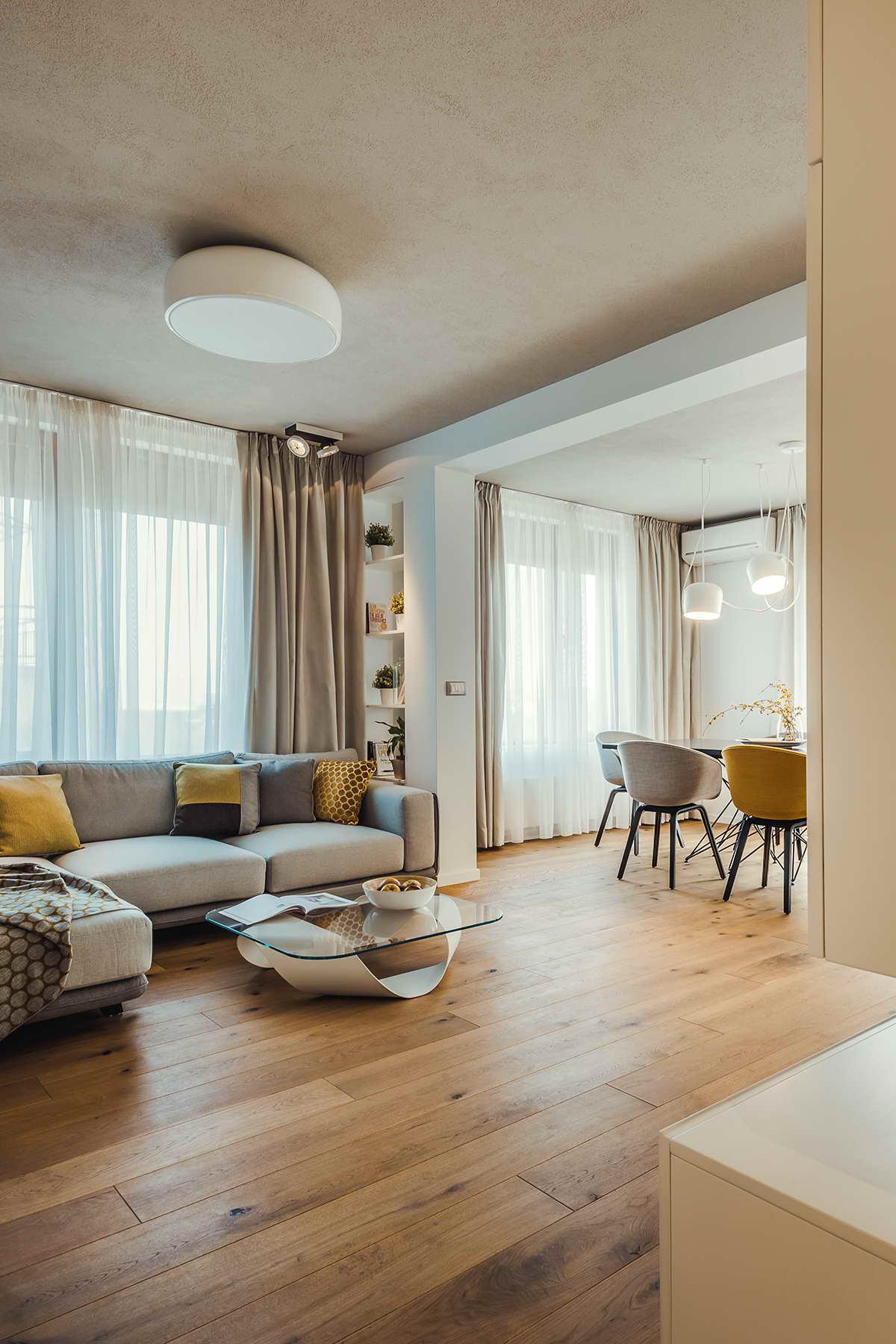 elegáns modern lakás nappali