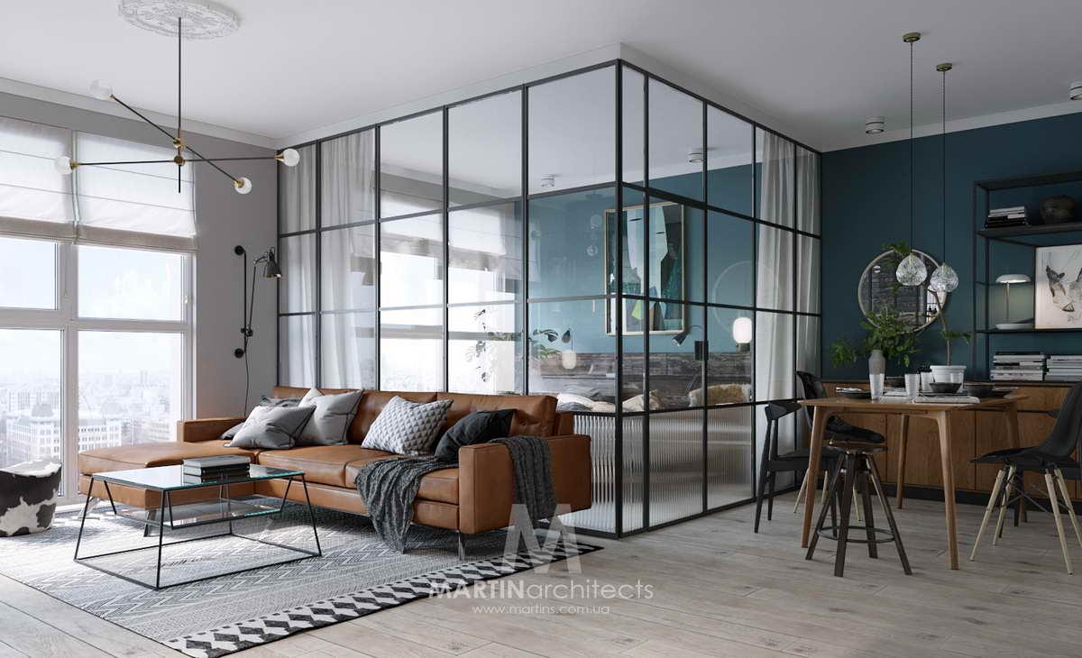 hálószoba a nappaliban