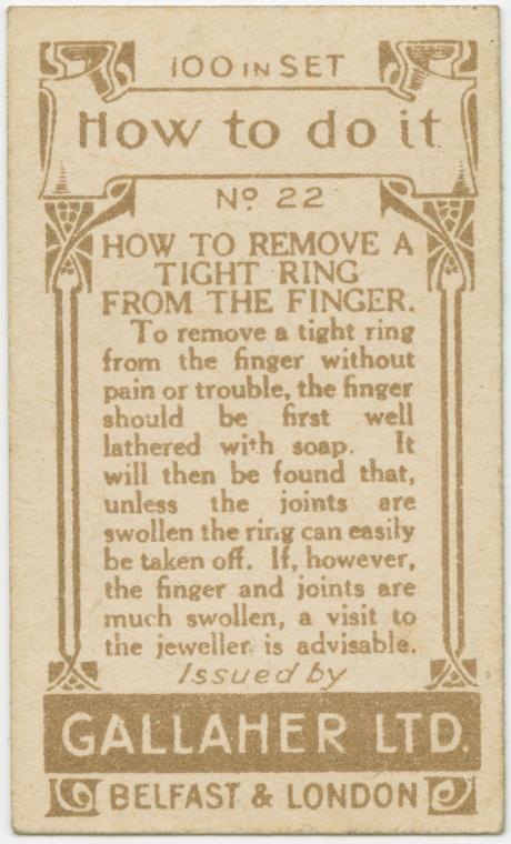 házi praktika - hogy távolítsd el a szoros gyűrűt