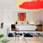 kis lakás függesztett hálószoba