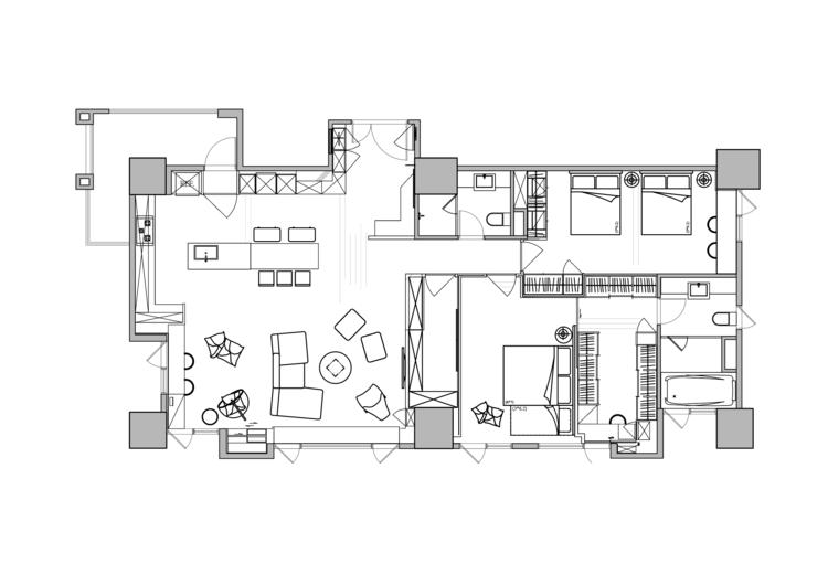 játékos és színes lakás alaprajz