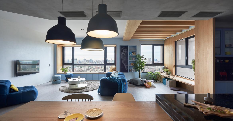 játékos és színes lakás - nappali
