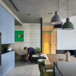 játékos és színes lakás - nappali közlekedú