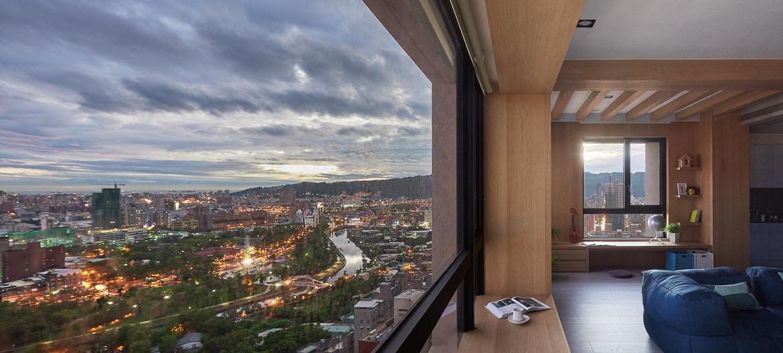 vjátékos és színes lakás - panoráma kilátás