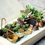 varázskönyv - könyv virág cserép