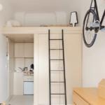 kis lakás kis konyha és függőágy kanapé helyett