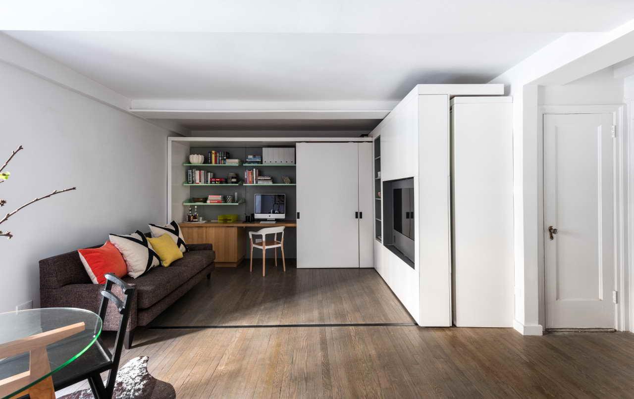 kis lakás mozgatható fal és sok ötlet