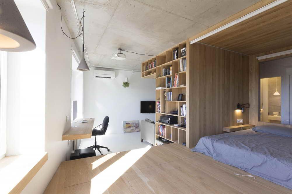 kis lakás teljes helykihasználás kanapé mögött is