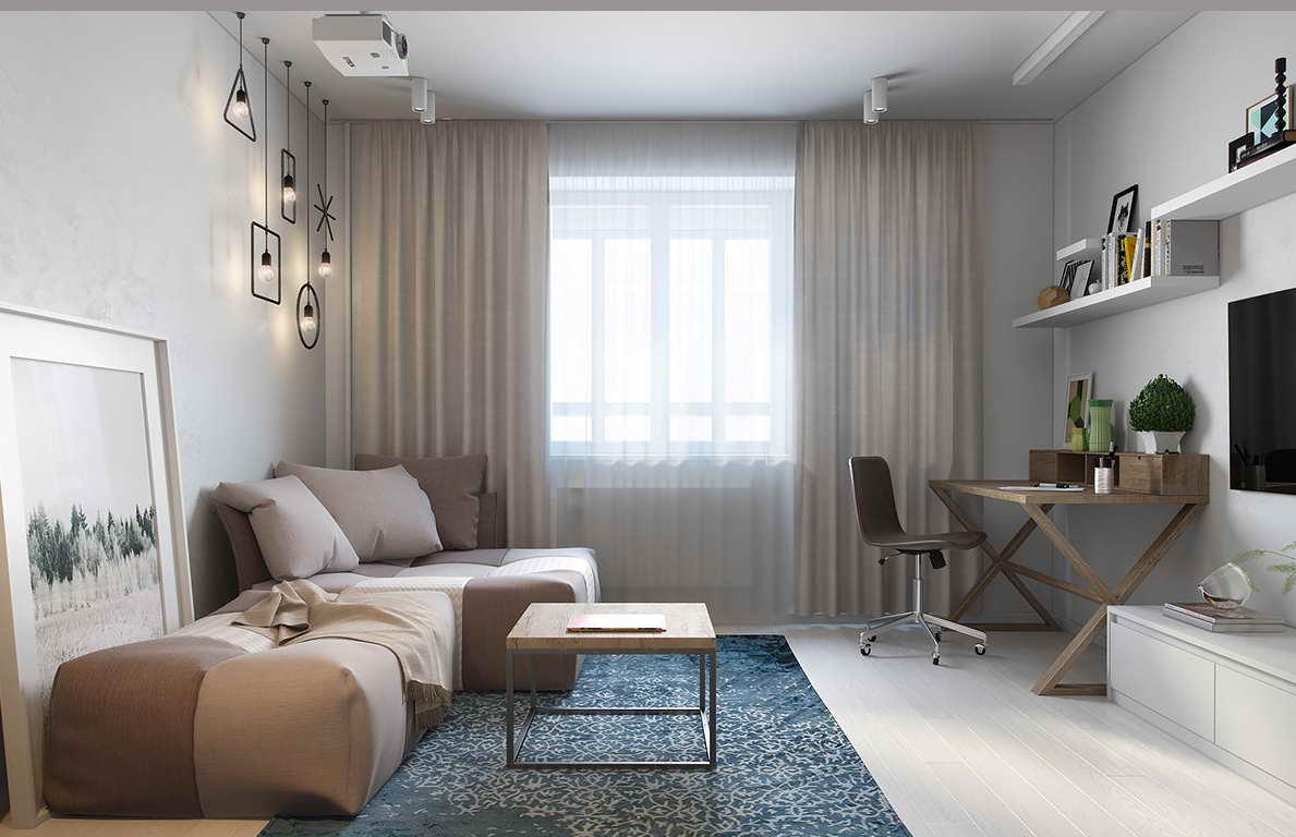 kis lakás háló kuckó világos szín