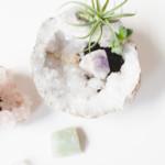 varázs kristály virág dekorció