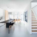 minimál design különböző stílus - nappali konyha