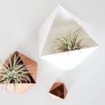 papír virágcserép geometrikus formákból