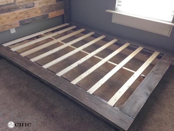 ágy készítés DIY kreatív - rusztikus ágy