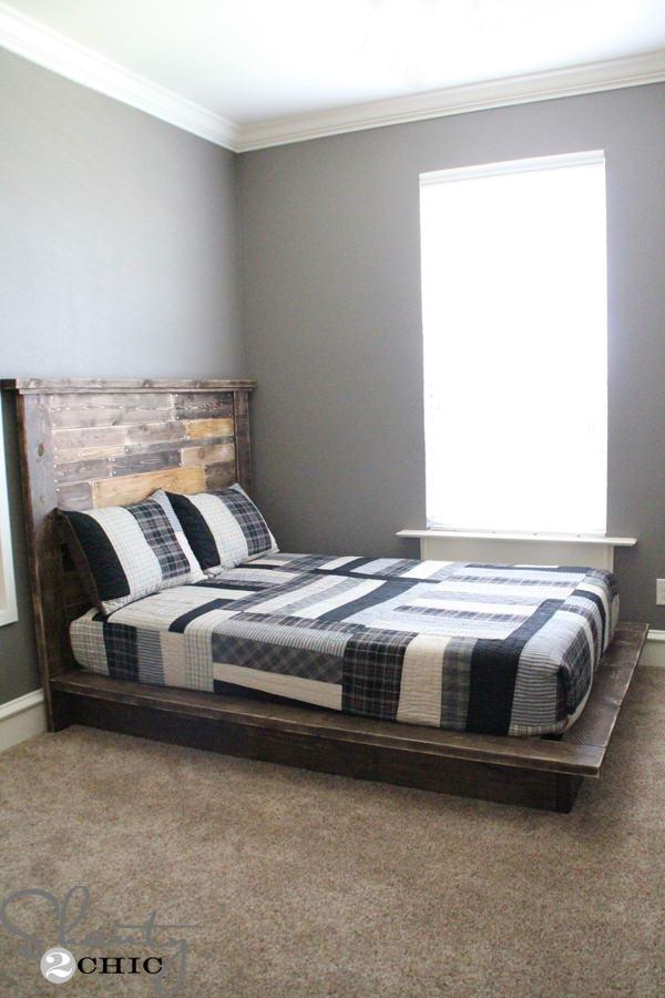 ágy készítés DIY kreatív - rusztikus