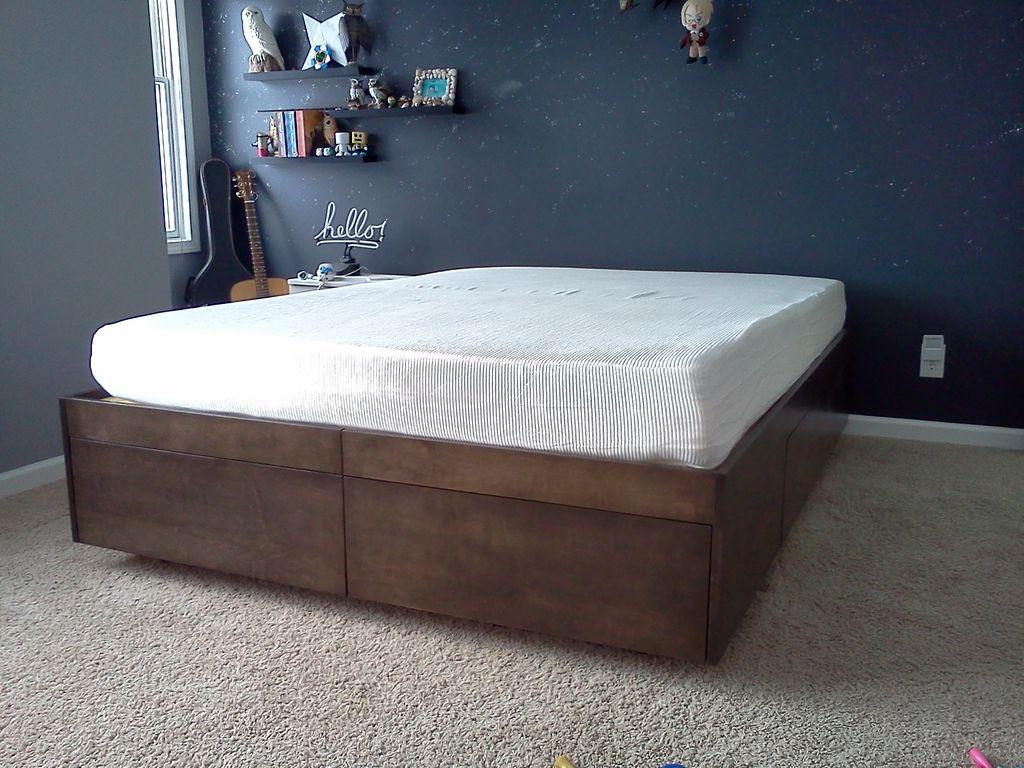 ágy készítés DIY kreatív - fiókos ágynemű tartó