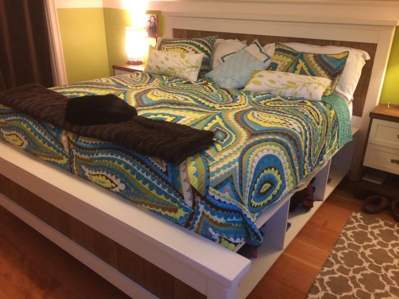ágy készítés DIY kreatív - Ikea tároló ágy hack