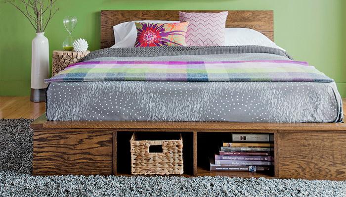 ágy készítés DIY kreatív -dobogó és tároló az ágyban