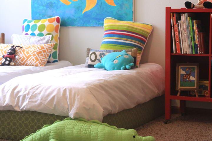ágy készítés DIY kreatív - kárpitozott gyerekágy